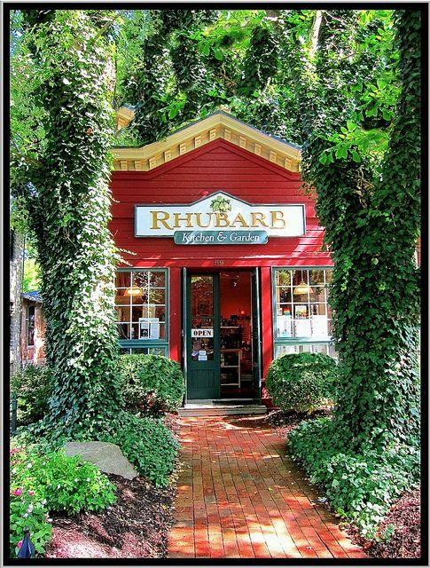 Rhubarb Kitchen and Garden in Skaneateles, New York.....