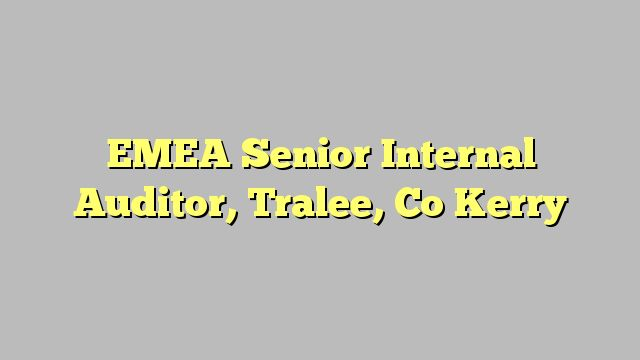 EMEA Senior Internal Auditor, Tralee, Co Kerry