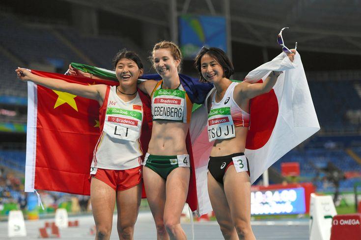 女子400メートル(切断など)で銅メダルを獲得した辻沙絵(右)=井手さゆり撮影 #辻沙絵 #陸上 #パラリンピック