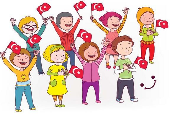 "(Çocuklar Bayramı) Every year, the 23the of April, the children in Turkey celebrate the ""National Children's Day"" as a national holiday. Schools participate in ceremonies and there are lots of activities during this day. This day is created by the first president of Turkey. Mustafa Kemal Atatürk."