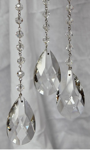 buy wedding crystals to add to chandelier teardrop chain crystal prism 3 feet
