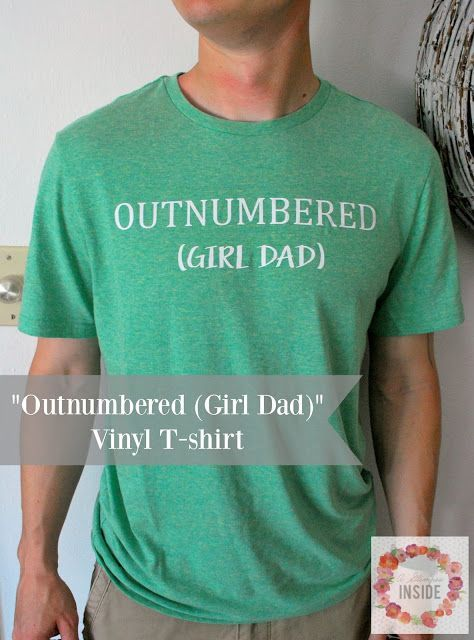 """A Glimpse Inside: """"Outnumbered (Girl Dad)"""" Vinyl T-shirt - gents shirts with price, gents shirts with price, shirts for men with price *sponsored https://www.pinterest.com/shirts_shirt/ https://www.pinterest.com/explore/shirt/ https://www.pinterest.com/shirts_shirt/band-shirts/ http://us.shein.com/T-shirt-c-1738.html"""