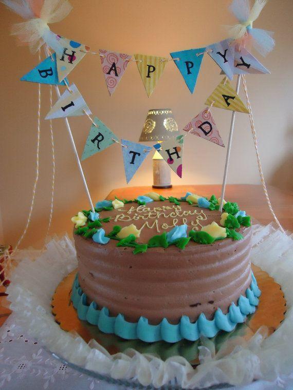 For The Cake Cake Banner Happy Birthday Cakes Birthday