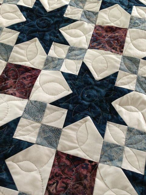 Love this quilting, I would use different colors.