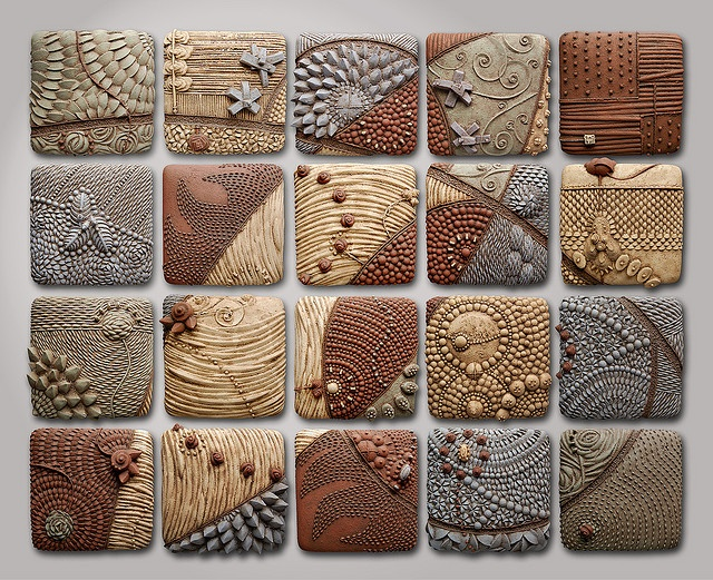 each student create own/one - used as a combination piece....use of textures -I don't even care what they are or where they go - they are just gorgeous