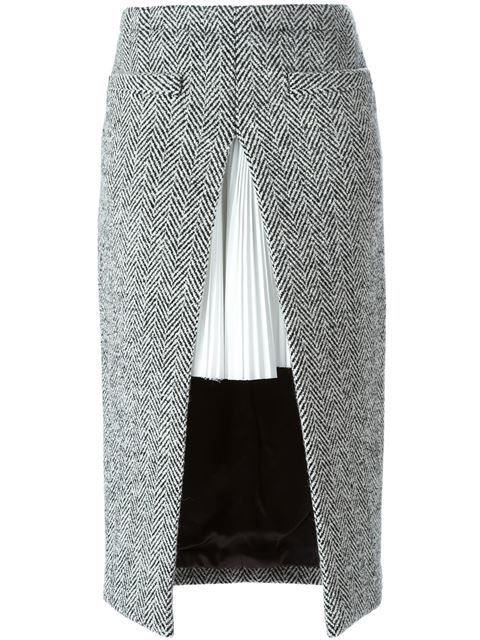 Shop Sacai double layered herringbone skirt in Penelope from the world's best independent boutiques at farfetch.com. Shop 300 boutiques at one address.