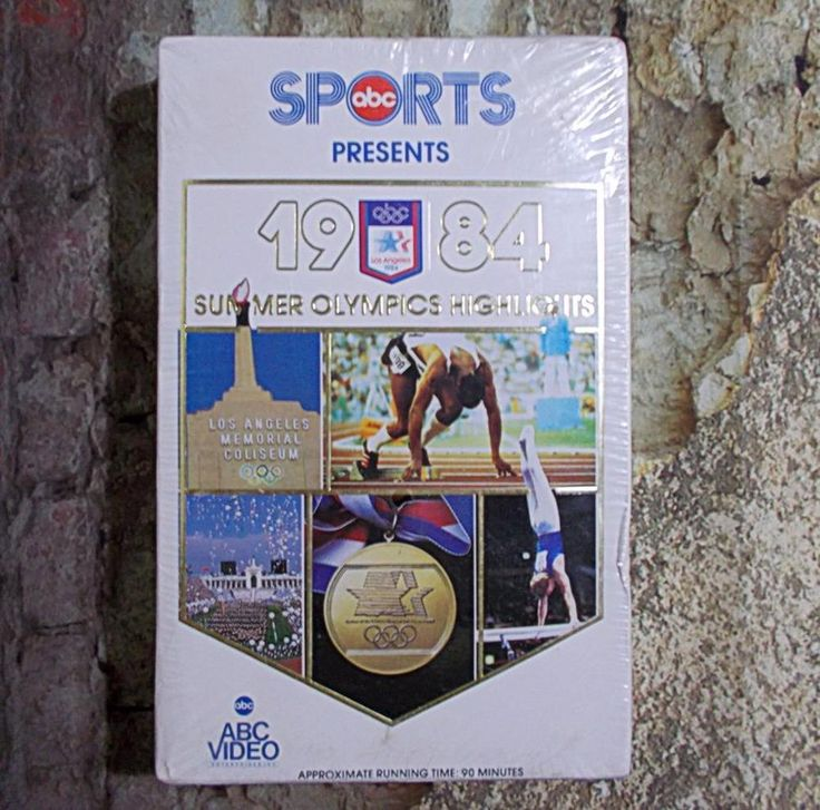 ABC Sports 1984 Summer Olympics Highlights Los Angeles VHS New Sealed