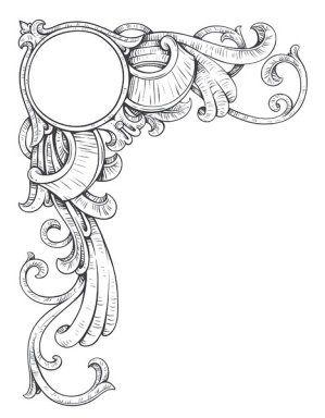 Vintage Corner Frame & Embellishment ~ Pg. 461 LÁMINAS VINTAGE, ANTIGUAS,RETRO Y POR EL ESTILO....