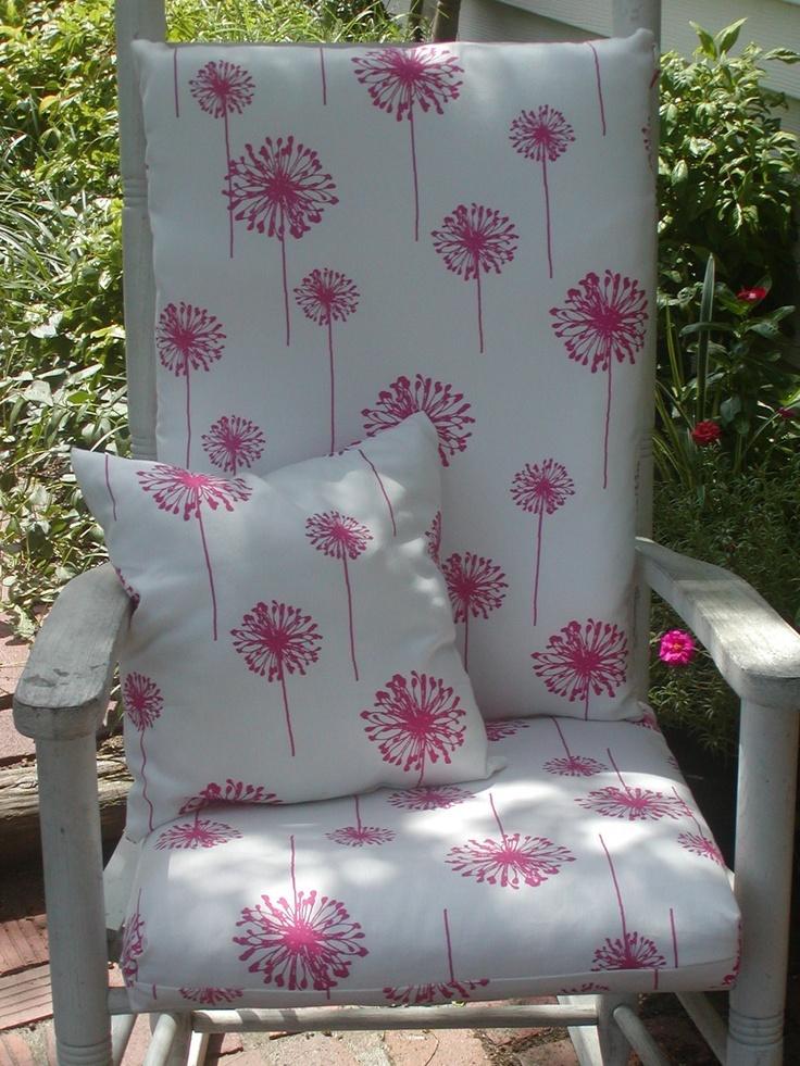 Nursery Or Indoor Outdoor Custom Rocking Chair Cushions