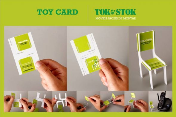 Tok & Stok : you build the business card for this easy-to-assemble furniture company -- brilliant.