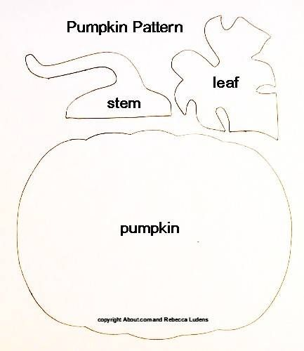 Free Pumpkin Paper Piecing Pattern for Halloween and Thanksgiving