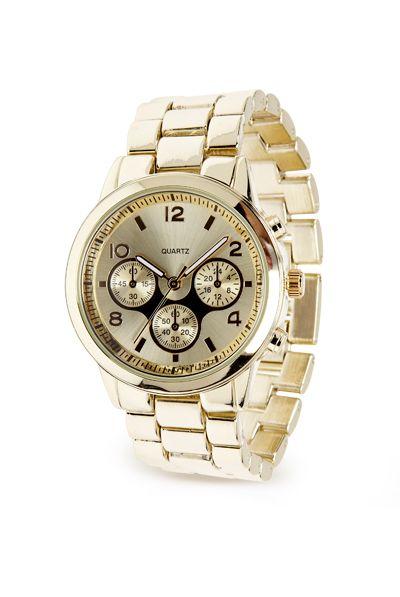 Classy Statement Watch / Montre dorée audacieuse #Reitmans #GoldWatch #BoldWatch #Gold #Golden #Or #Dorée #Montre #TimePiece