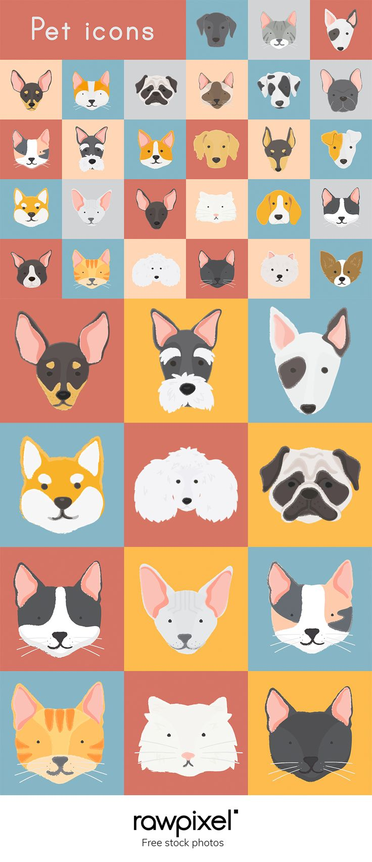 Download free royaltyfree images of cute pet icons at