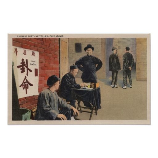 Chinese Fortune Tellers in Chinatown Poster