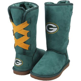When she pulls these embroidered boots on, she'll be the talk of the Green Bay Packers tailgate.