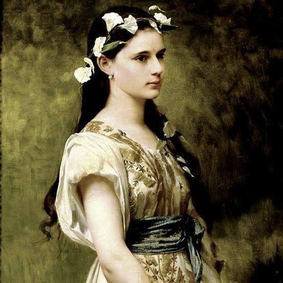 Jules Joseph Lefebvre (1836-1911). - Portrait of Julia Foster Ward (DET)1880