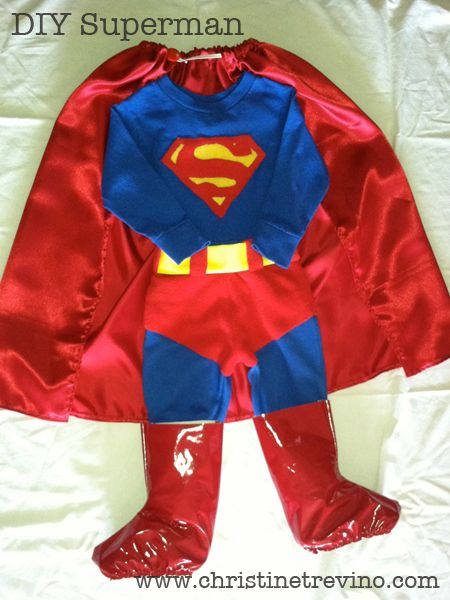 Superman costume diy with links to tutorials for each piece