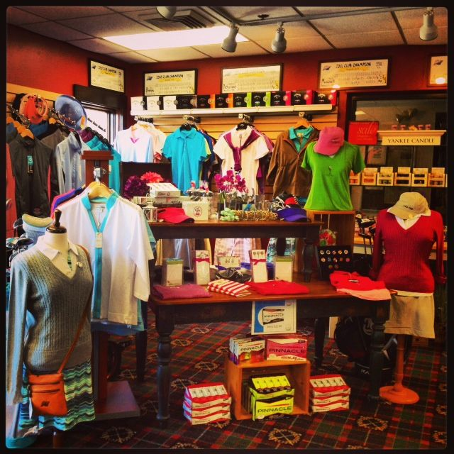 Large selection of golf gear for women in  the Pro Shop of White Cliffs Country Club.  Large #Ladies League too!   #LPGA