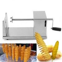 Wish | Manual Stainless Steel Twisted Potato Slicer Spiral French Fry Vegetable Cutter