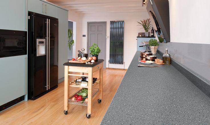 Kitchen Worktops: 2m Axiom by Formica Black Fleck Crystal Laminate Kitchen Worktop