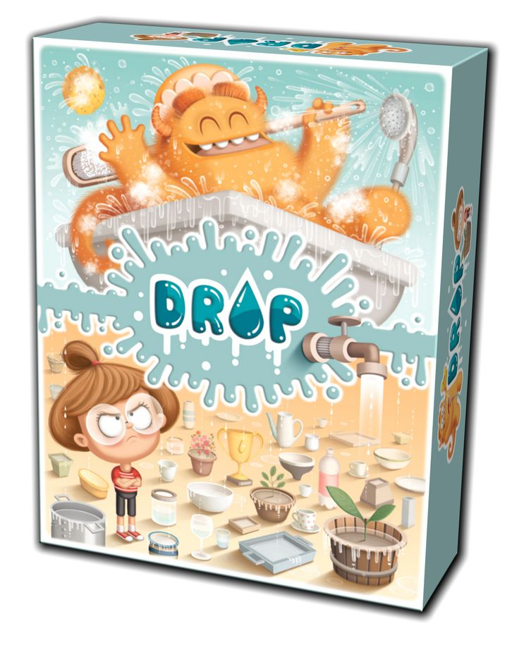 Drop (2015) a game developed to involve people in a research program concerning the right use of water. The game has not been distributed in a standard way, but as a promotional product. Art by Valentina Mendicino. Publisher: Moonsubmarine.