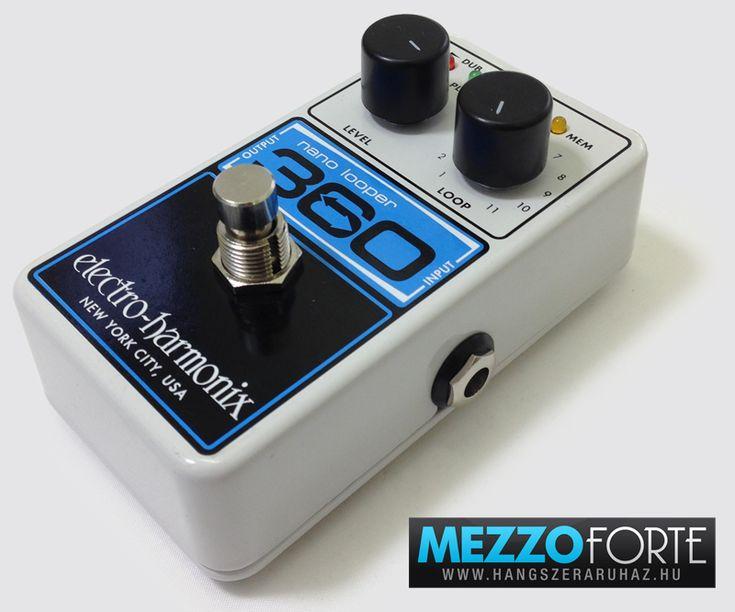 Electro-Harmonix Nano Looper 360 gitár looper pedál: 360 másodperc frázis rögzítő