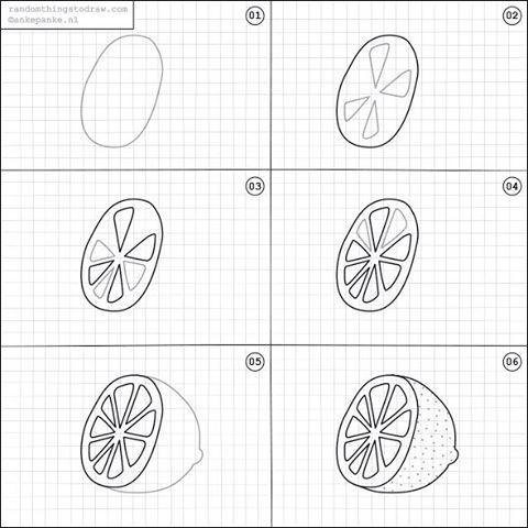 draw drawing drawings easy things random fun lemon doodle step learn journal steps kawaii inspiration twice week guide pensamiento visual