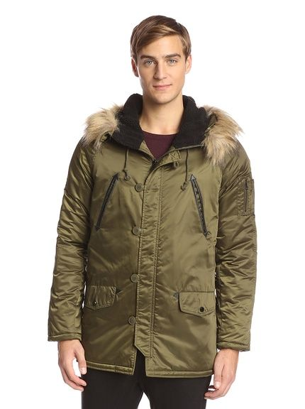 Members Only Men's Hooded Military Snorkel Parka with Detachable ...