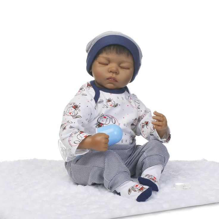 ==> [Free Shipping] Buy Best 20 inch Black Reborn babies girl African American Baby Doll Black skin Realistic sleeping bebe alive reborn bonecas Online with LOWEST Price | 32805316043