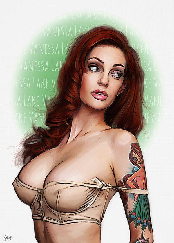 Vanessa Lake -Look Back Portrait on Behance