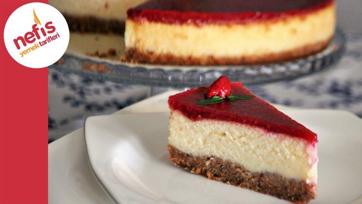 Frambuazlı Cheesecake Tarifi   Meyve Soslu Cheesecake   Nefis Yemek Tari...