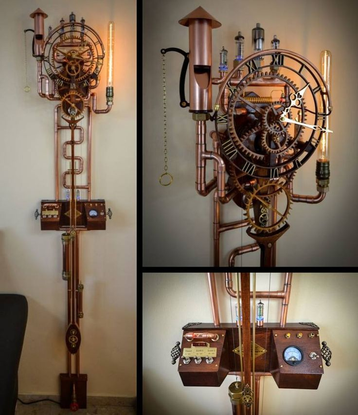"""Wooden clock """"UTOPIA HOROLOGIUM"""" from Andreas G. which is based on the """"Zentira"""" clock of Christopher Blasius. Plans for """"Zentira"""" available at holzmechanik.de"""