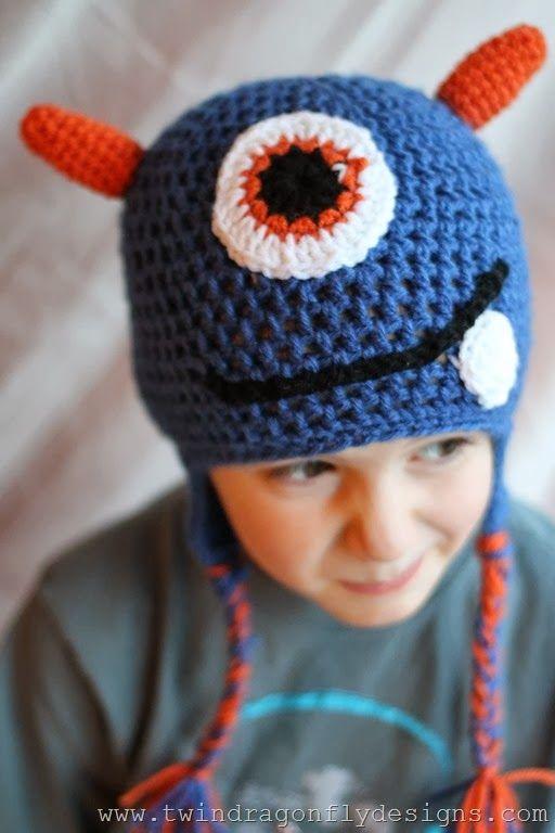 #Crochet Monster Hat Pattern