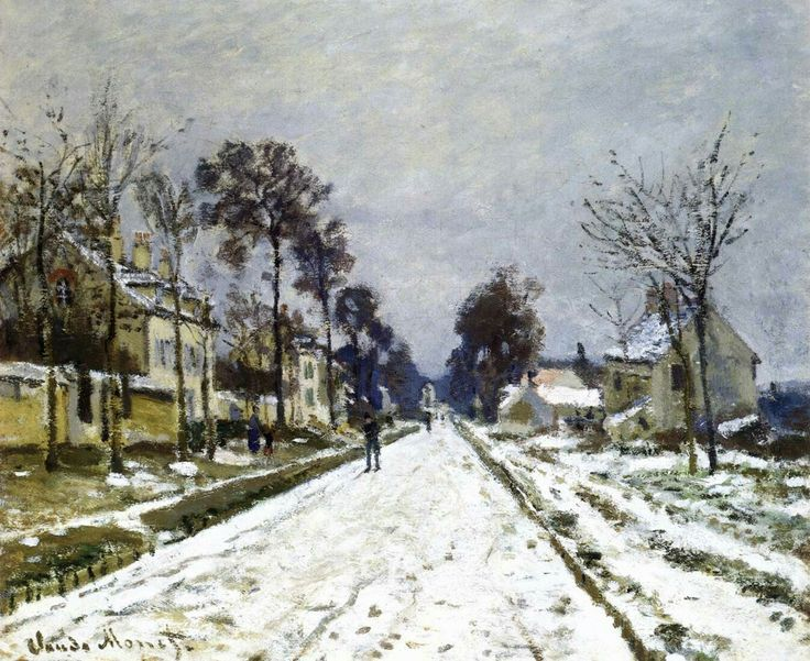 Road at Louveciennes, Snow Effect 1869-70 Oil on canvas, 56 x 65 cm Private collection