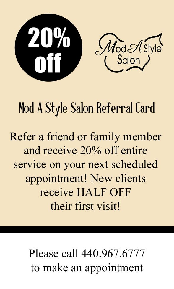 35 best referral cards images on pinterest referral cards salon salon referral card colourmoves