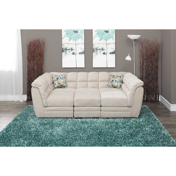Picture of Clio Burlap 4-Piece Pit Sectional