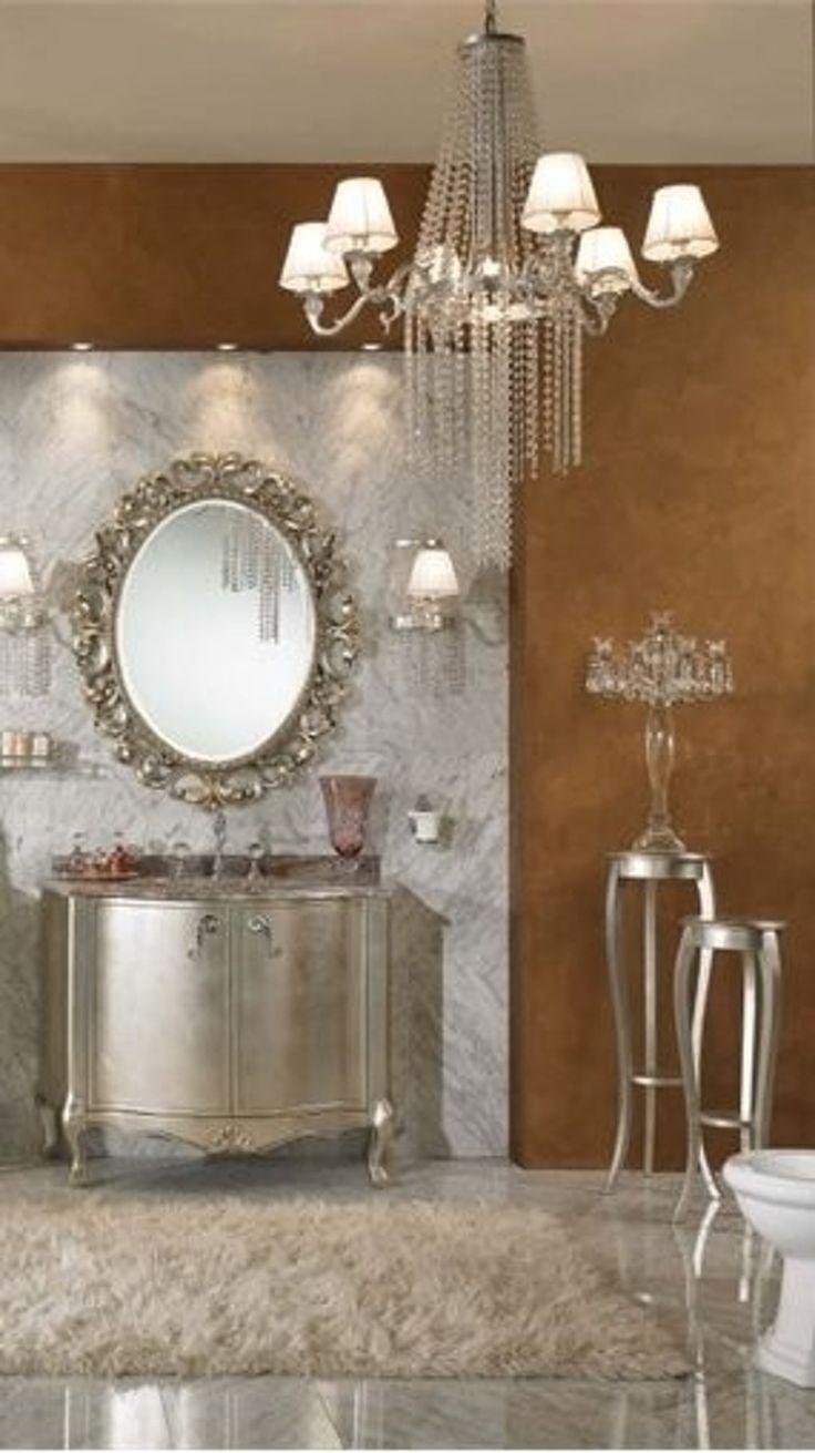 27. #metallic - 44 salles de bain #luxueuses qui seront #totalement Awe vous... → #Inspiration
