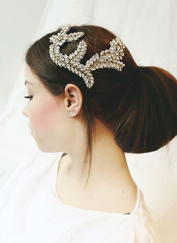 Bridal hair accessories / headpiece / hair vine with crystals