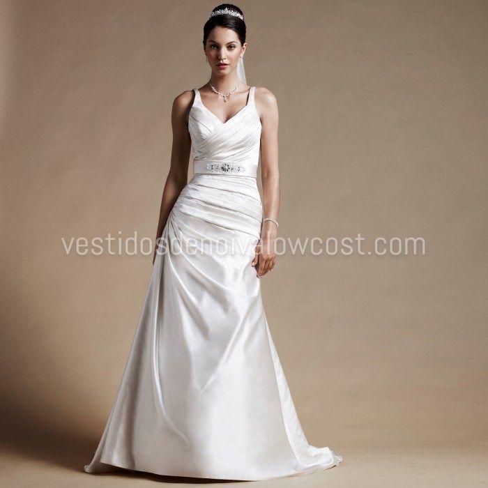 Elegante Vestido de Noiva de Cetim