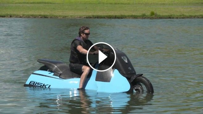 Gibbs Amphibious Motorcycle Switches to JET-SKI Mode in Less Than 5 Seconds! - The Biski is truly unique; as a single seat (or single plus pillion), twin jet, HSA Mo