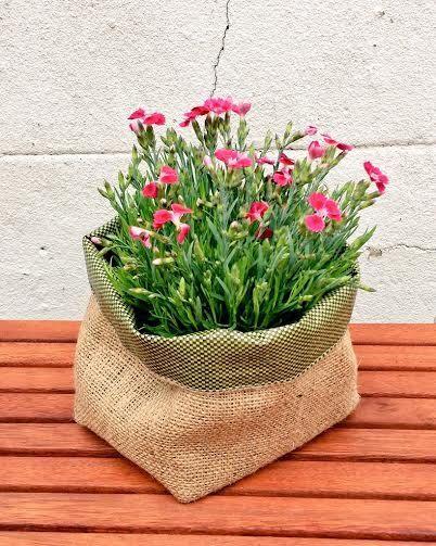 JUTE GARDENING POT Waterproof Planter Basket Extra Strong