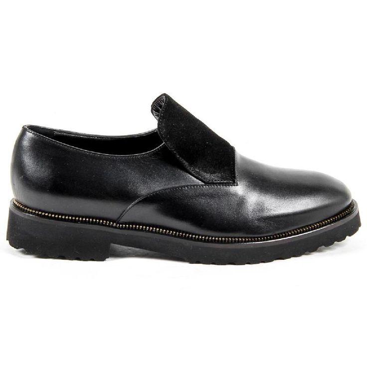 V 1969 Italia Womens Oxford Shoe B2441 VITELLO + CAMOSCIO NERO