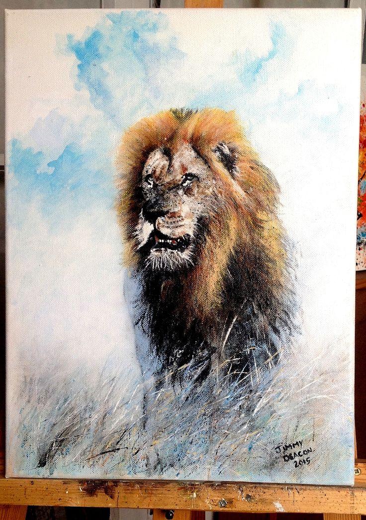 The king - acrylic on canvas - jimmy deacon