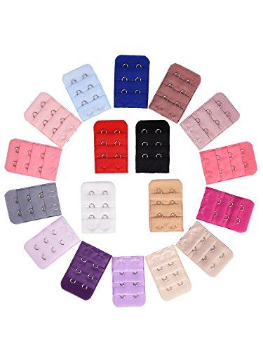 eBoot 18 Pieces Bra Strap Extender Bra Extension Straps, 3 Row 2 Hook, 18 Color - http://www.darrenblogs.com/2017/03/eboot-18-pieces-bra-strap-extender-bra-extension-straps-3-row-2-hook-18-color/