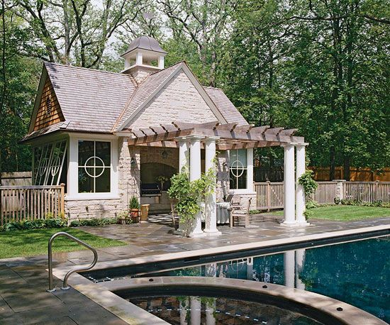 Outdoor Kitchen Design Ideas Pool Houses Open Entryway