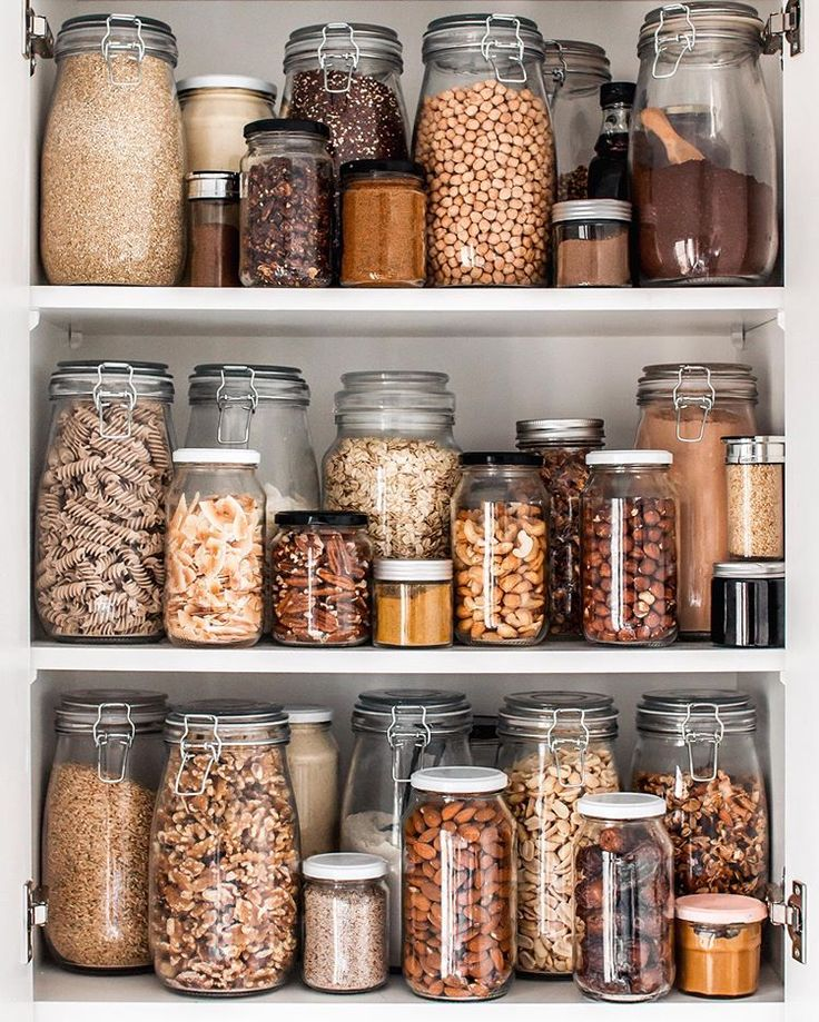 fully stocked pantry just filled up all my jars with my staple dried goodies which i ll be on kitchen organization zero waste id=70079