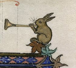 "Awake the Trumpet's Lofty Sound Petrus Comestor,Historia scholastica (""Ashridge Petrus Comestor""), England ca. 1283-1300. British Library,Royal 3 D VI, fol. 234r [lots of cool illuminated manuscript images, some nsfw but all w/ very witty titles ^_^ -jl-]"