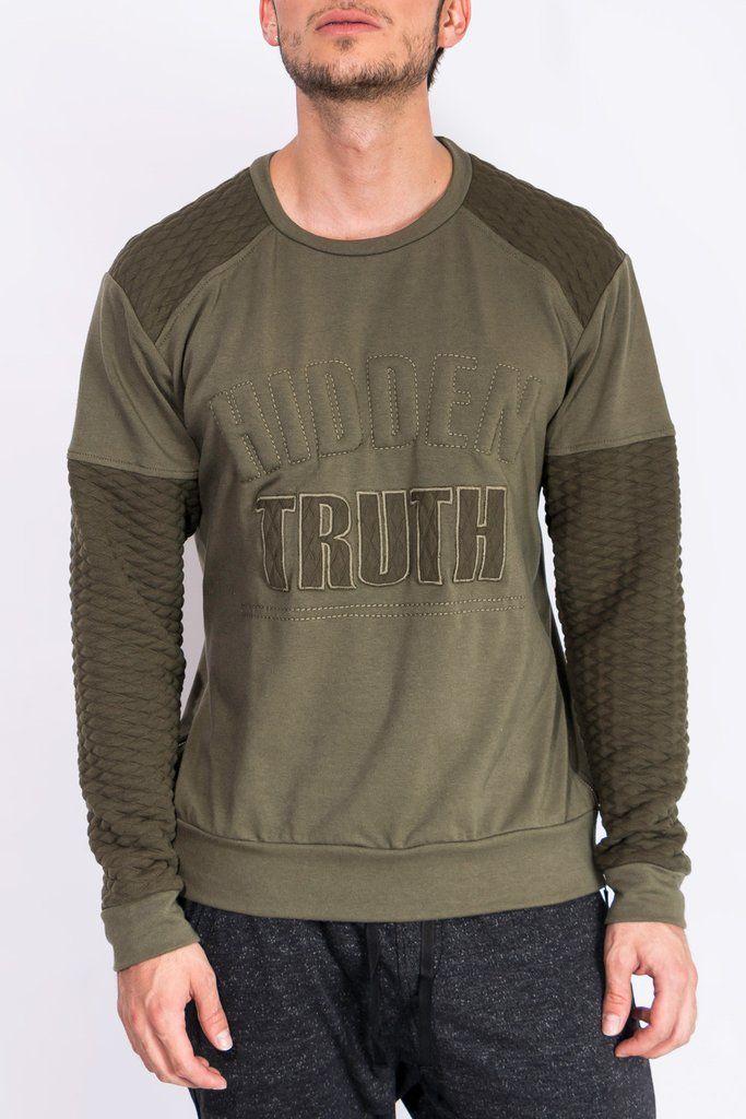 """Busos Para Hombre - Buso Verde Militar """"Hidden Truth"""" – urbanwearco"""