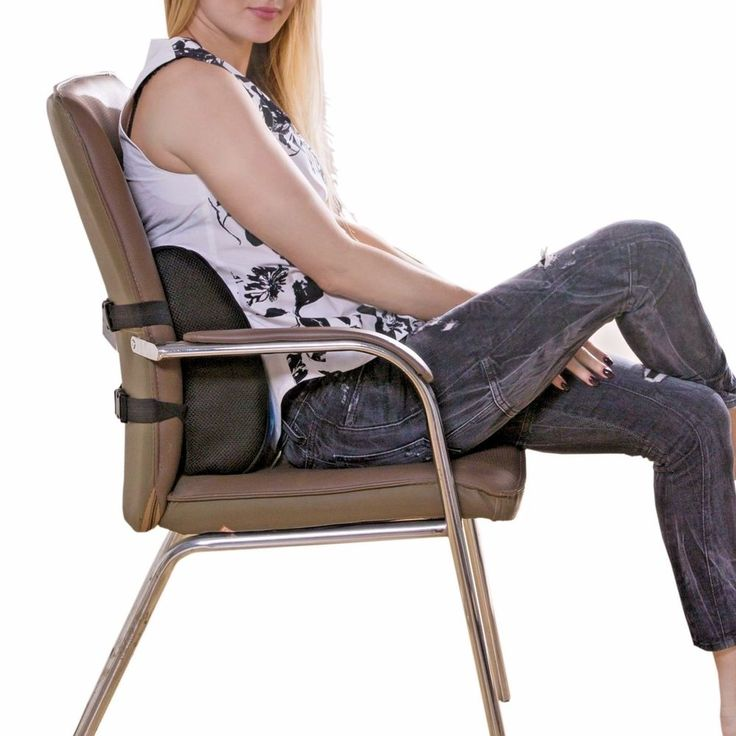 White Leather Sofa Memory Foam Back Cushion Support Pillow Orthopedic Design Office Sofa Car Chair