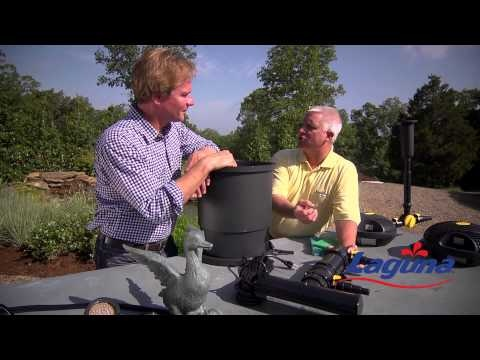 P Allen Smith and Laguna discuss Laguna Pond Pressure Flo pond filters and UV sterilizers around his Laguna Pond water feature at his Moss Mountain Farm.